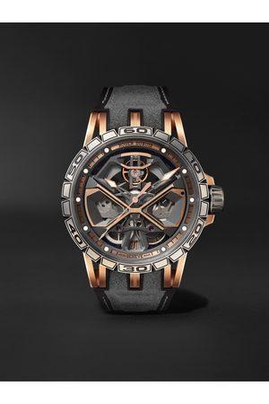 ROGER DUBUIS Homem Relógios - Excalibur Huracán Automatic Skeleton 45mm 18-Karat Pink Gold, Titanium and Rubber Watch, Ref. No. RDDBEX0750