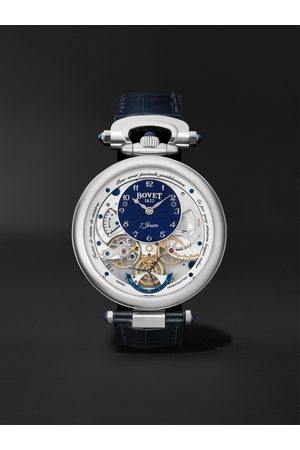 BOVET Homem Relógios - Monsieur Hand-Wound 43mm 18-Karat White Gold and Leather Watch, Ref. No. AI43018