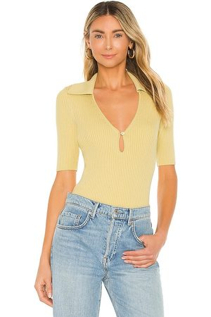 Weekend Stories Dane Knit Top in - ,Yellow. Size L (also in XXS, XS, S, M, XL).