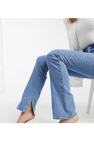 ASOS ASOS DESIGN Tall high rise '00's' stretch flare in 70's blue