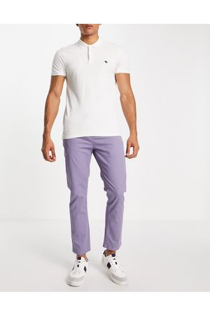 ASOS Slim chinos with elasticated waist in blue