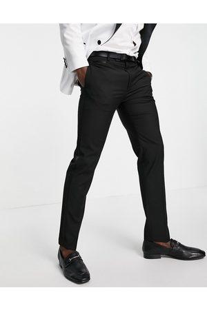 ASOS Slim tuxedo in black suit trousers