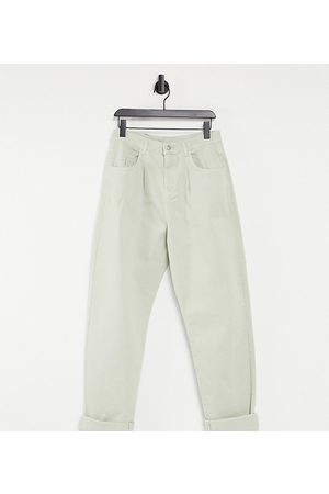 Reclaimed Vintage Inspired The '83 unisex relaxed jean in stone-Neutral