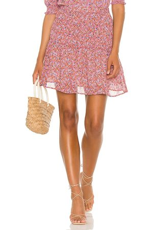 Sanctuary Sweeter Mini Skirt in - Rust,Pink. Size L (also in XS, S, M).