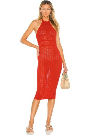 Lovers + Friends Rae Halter Dress in - Red. Size L (also in XXS, XS, S, M, XL).