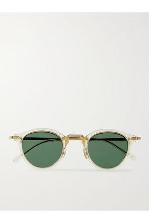 Mr. Leight Homem Óculos de Sol - Stanley S Round-Frame Acetate and Gold-Tone Sunglasses