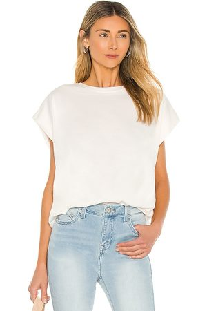 PISTOLA Trina Muscle Tee in - Ivory. Size L (also in XS, S, M).