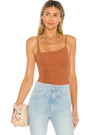 House of Harlow 1960 X Sofia Richie Yael Bodysuit in - Rust. Size L (also in XS, S, M, XL).
