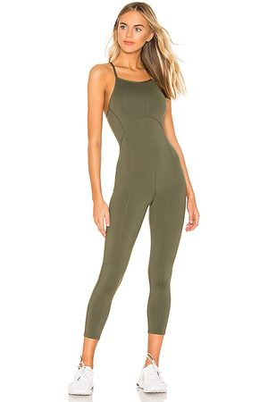 Free People Senhora Macacões - X FP Movement Side To Side Performance Jumpsuit in - Olive. Size L (also in XS, S, M).