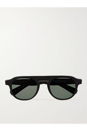 GARRETT LEIGHT CALIFORNIA OPTICAL Homem Óculos de Sol - Harding X Round-Frame Matte-Acetate Sunglasses