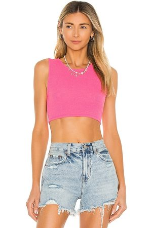 Lovers + Friends Lydia Cropped Tank in - Pink. Size L (also in XXS, XS, S, M).