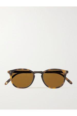 GARRETT LEIGHT CALIFORNIA OPTICAL Homem Óculos de Sol - Kinney 47 Round-Frame Tortoiseshell Matte-Acetate Sunglasses