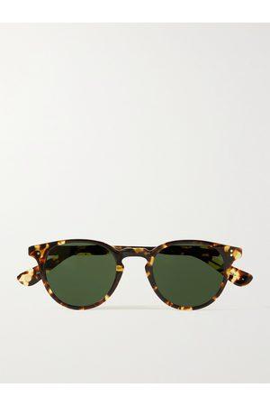 GARRETT LEIGHT CALIFORNIA OPTICAL Homem Óculos de Sol - Clement Round-Frame Tortoiseshell Acetate Sunglasses