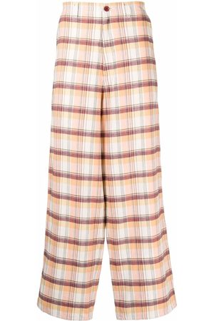UNDERCOVER Checked wide-leg trousers