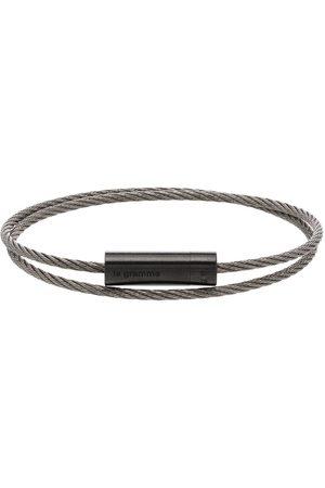 Le Gramme Homem Pulseiras - 7g brushed double cable bracelet