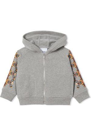 Burberry Kids Bear-print zip-fastening hoodie