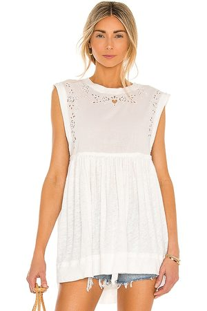 Free People Bella Babydoll Top in - . Size L (also in XS, S, M).