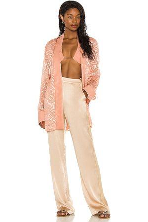 Tell Your Friends Kimono in - Rose. Size L (also in S, XXS, XS, M, XL).