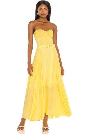 SWF Halter Dress in - Yellow. Size L (also in XS, S, M, XL).