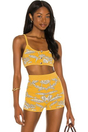House of Harlow X Sofia Richie Prue Knit Top in - Yellow. Size L (also in XL).