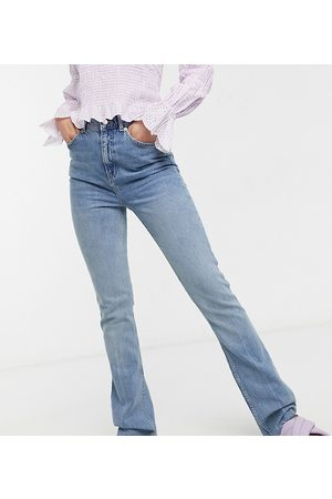 ASOS Tall Senhora Stretch - ASOS DESIGN Tall high rise '70's' stretch flare jeans in lightwash-Blue