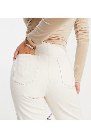 AsYou 90's straight leg jean in ecru-White