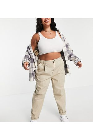 ASOS ASOS DESIGN Curve chino trousers in stone-Neutral