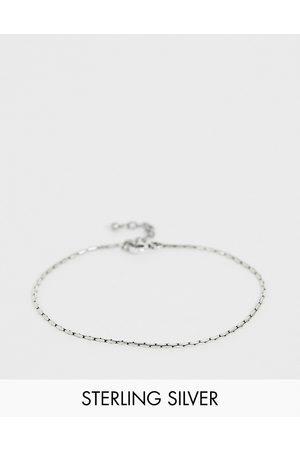ASOS Sterling silver bracelet in burnished silver
