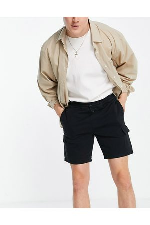 ASOS Cargo shorts in black