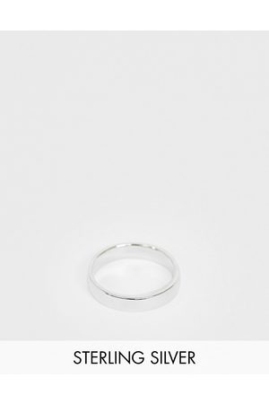 ASOS Homem Anéis - Sterling silver band ring in silver