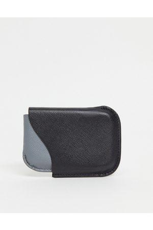 ASOS 2 in 1 leather multi use card holder and phone case black