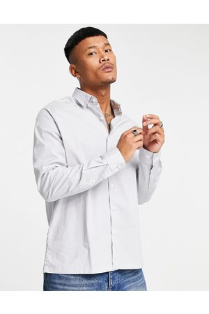 ASOS Relaxed fit shirt in grey mini check