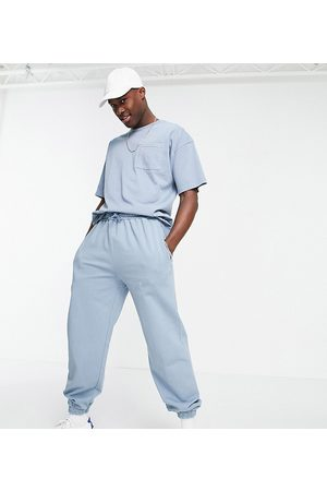 New Look Oversized co-ord washed joggers in blue