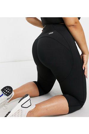 ASOS Curve icon run tie capri legging-Black
