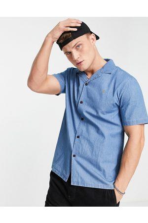 Farah Joplin short sleeve revere shirt-Neutral