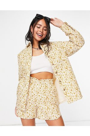 Object Quilted jacket co-ord in ditsy print-Yellow