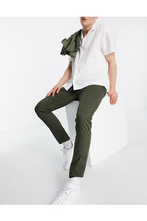 Farah Drake chino twill slim fit trousers-Green