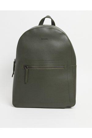 FENTON Pu zip front backpack-Green
