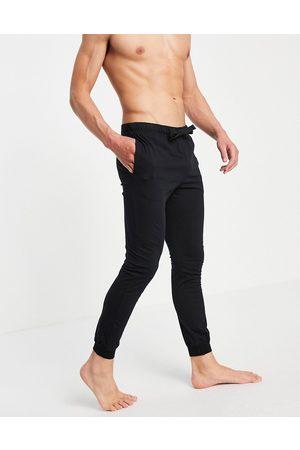 ASOS Lounge pyjama joggers in black