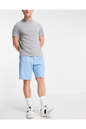 Boss Business Slice pleated chino shorts-Blue