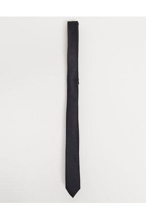 ASOS Satin skinny tie in black