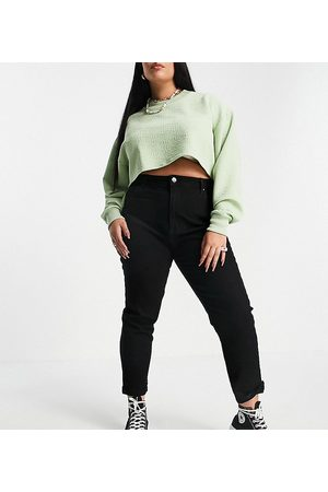 Cotton On Cotton:On Curve high waisted skinny jeans in wash black-Blue