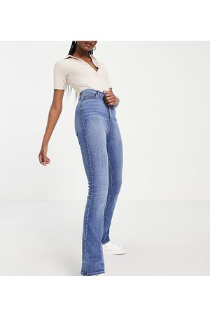ASOS ASOS DESIGN Tall high rise 'Y2K' stretch flare jeans in vintage midwash-Blue