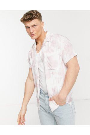 Topman Homem Manga curta - Slim shirt in pink mist