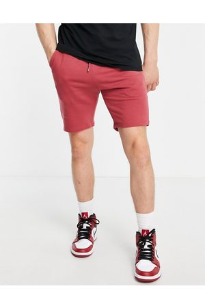 ASOS Skinny jersey shorts in dusty red