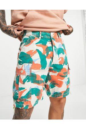 Deus Ex Machina Doc jungle shorts in multi camo print co-ord-Green
