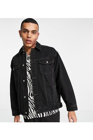 COLLUSION Denim jacket in black