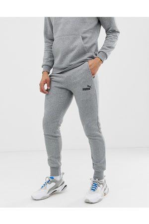 PUMA Essentials small logo slim joggers in grey