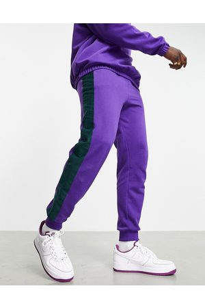 ASOS Co-ord tapered joggers with contrast detail in purple