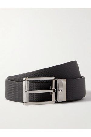 Mont Blanc Homem Cintos - 3cm Textured-Leather Belt